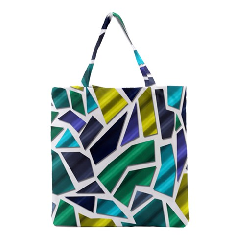 Mosaic Shapes Grocery Tote Bag