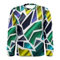 Mosaic Shapes Men s Long Sleeve Tee View1