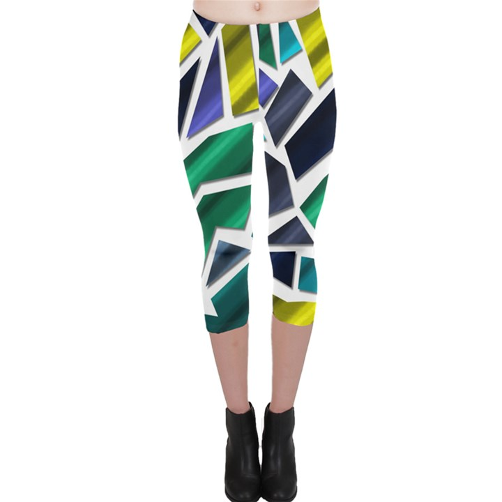 Mosaic Shapes Capri Leggings