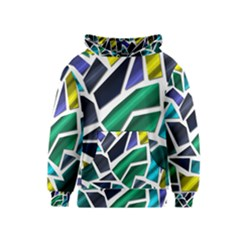 Mosaic Shapes Kids  Pullover Hoodie
