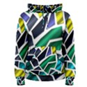 Mosaic Shapes Women s Pullover Hoodie View1
