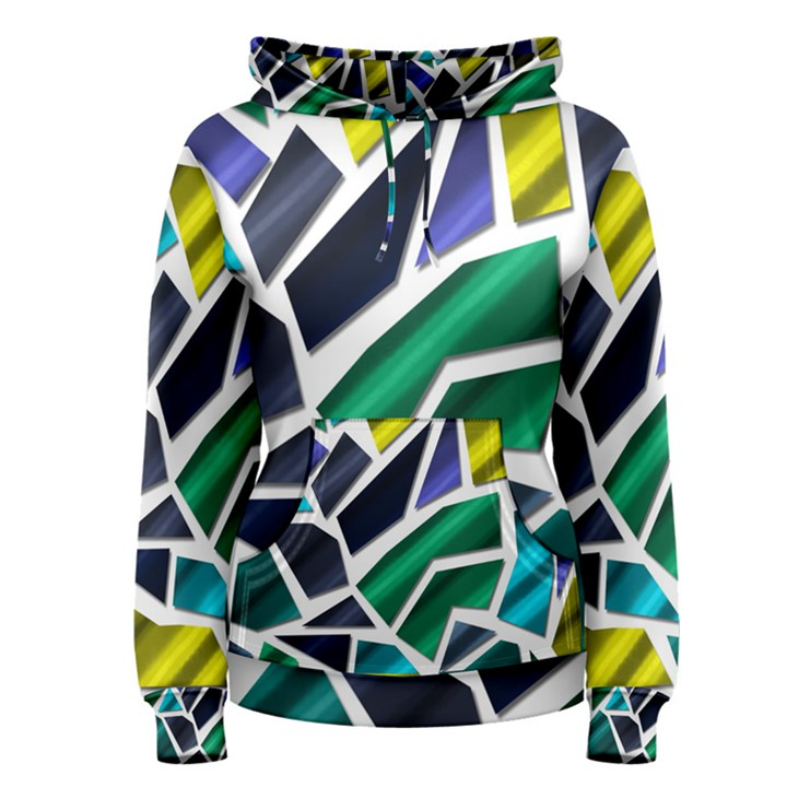 Mosaic Shapes Women s Pullover Hoodie