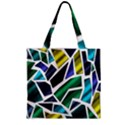 Mosaic Shapes Zipper Grocery Tote Bag View2
