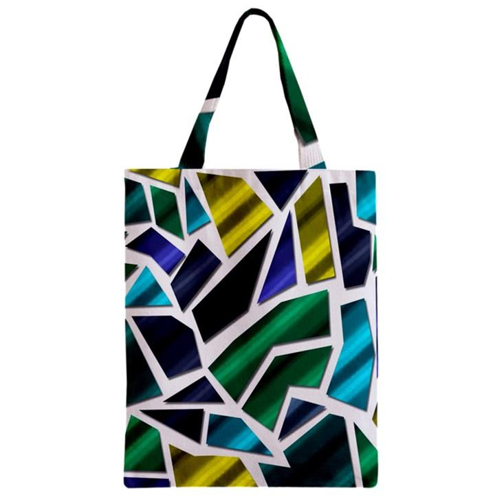 Mosaic Shapes Zipper Classic Tote Bag