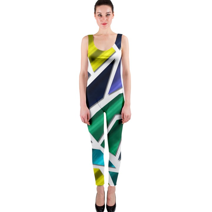 Mosaic Shapes OnePiece Catsuit