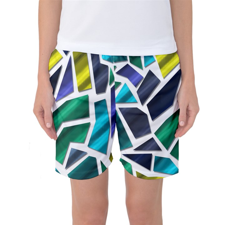 Mosaic Shapes Women s Basketball Shorts