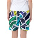 Mosaic Shapes Women s Basketball Shorts View2