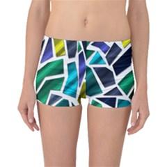 Mosaic Shapes Boyleg Bikini Bottoms