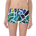 Mosaic Shapes Boyleg Bikini Bottoms View1