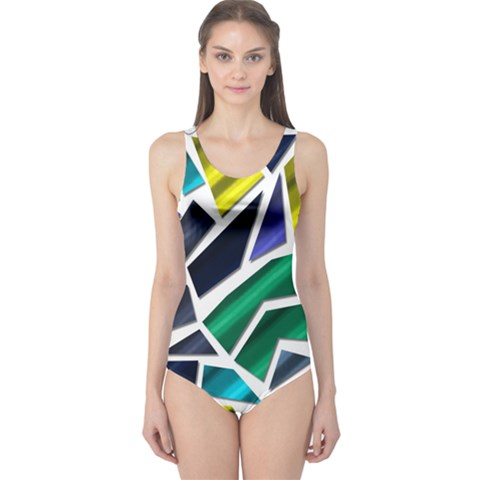 Mosaic Shapes One Piece Swimsuit
