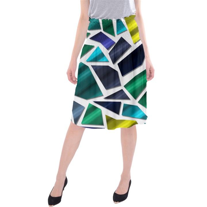 Mosaic Shapes Midi Beach Skirt