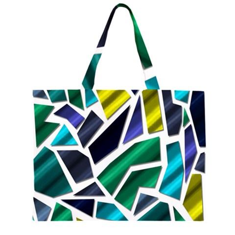 Mosaic Shapes Large Tote Bag