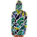 Mosaic Shapes Women s Long Sleeve Hooded T-shirt View2