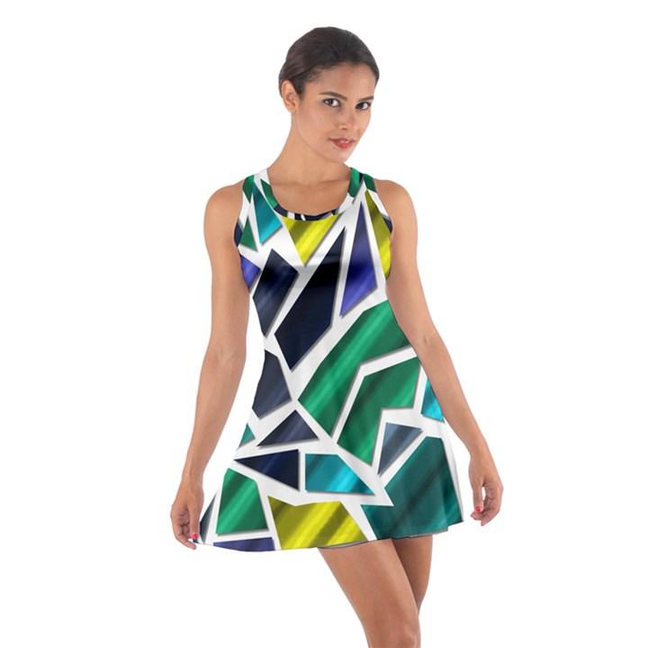 Mosaic Shapes Cotton Racerback Dress