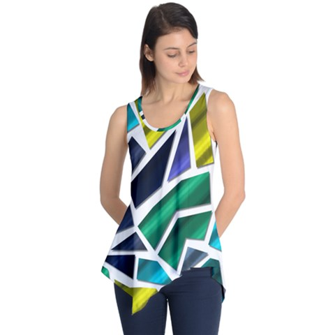 Mosaic Shapes Sleeveless Tunic