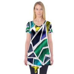 Mosaic Shapes Short Sleeve Tunic