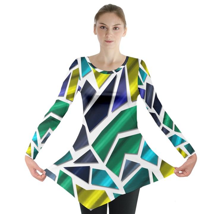 Mosaic Shapes Long Sleeve Tunic