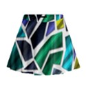 Mosaic Shapes Mini Flare Skirt View1