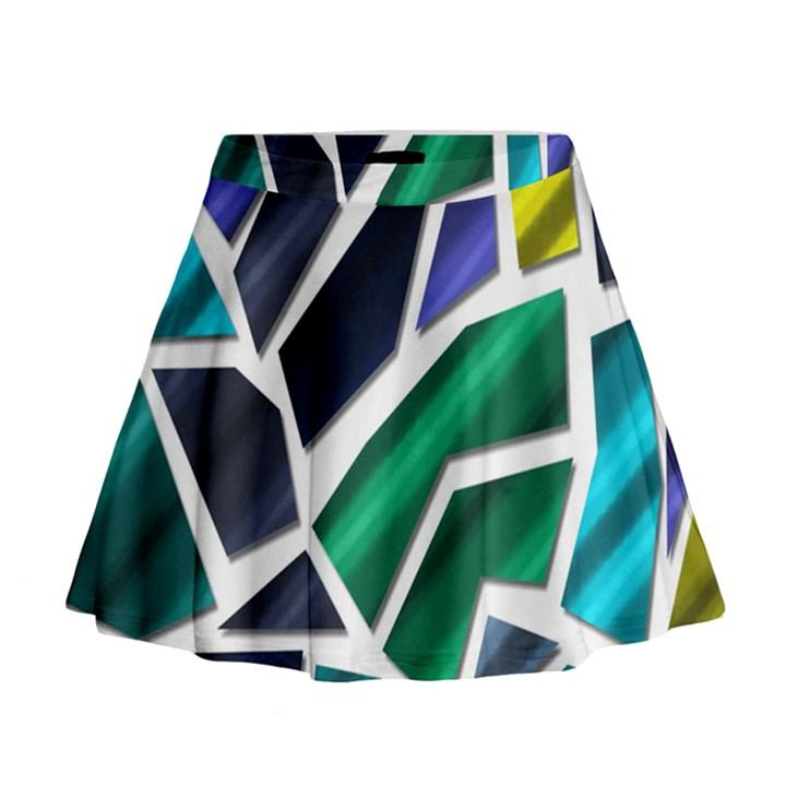 Mosaic Shapes Mini Flare Skirt
