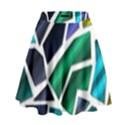 Mosaic Shapes High Waist Skirt View1