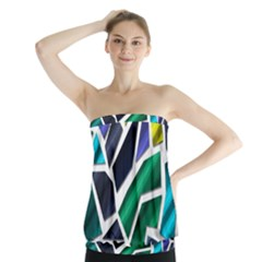 Mosaic Shapes Strapless Top