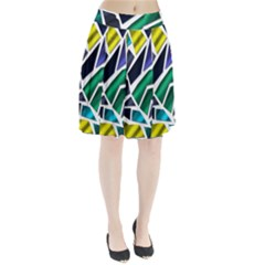 Mosaic Shapes Pleated Skirt