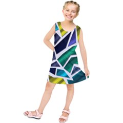 Mosaic Shapes Kids  Tunic Dress