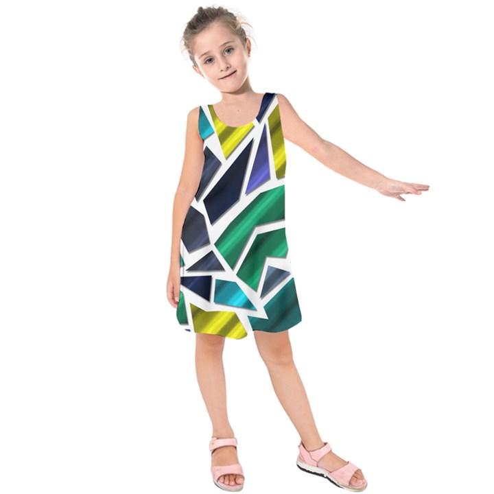 Mosaic Shapes Kids  Sleeveless Dress