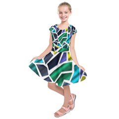 Mosaic Shapes Kids  Short Sleeve Dress