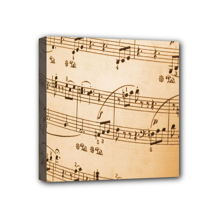 Music Notes Background Mini Canvas 4  x 4