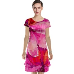 Geometric Magenta Garden Cap Sleeve Nightdress