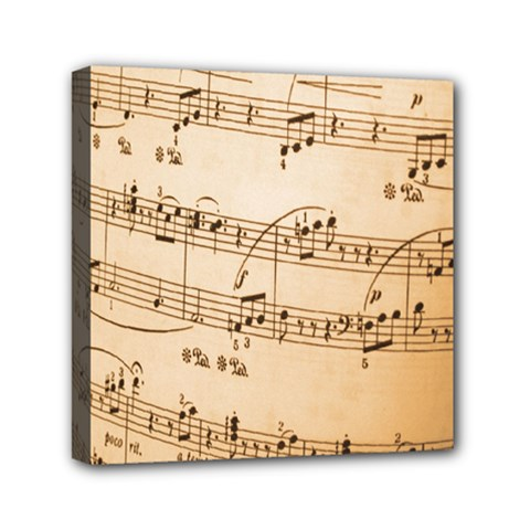 Music Notes Background Mini Canvas 6  x 6