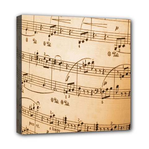 Music Notes Background Mini Canvas 8  x 8
