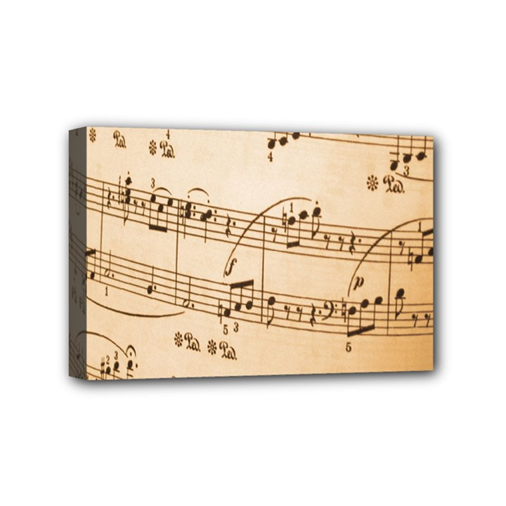 Music Notes Background Mini Canvas 6  x 4