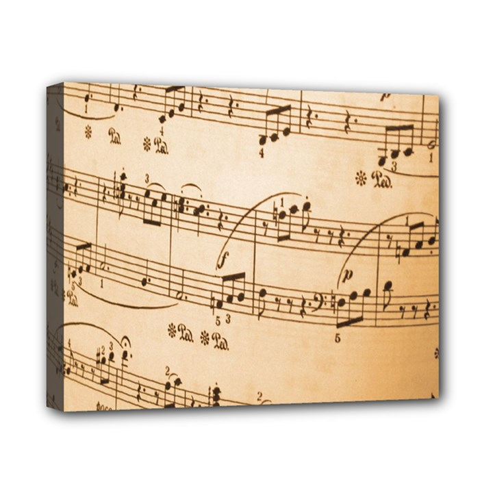 Music Notes Background Canvas 10  x 8