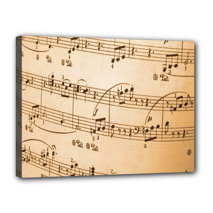 Music Notes Background Canvas 16  x 12