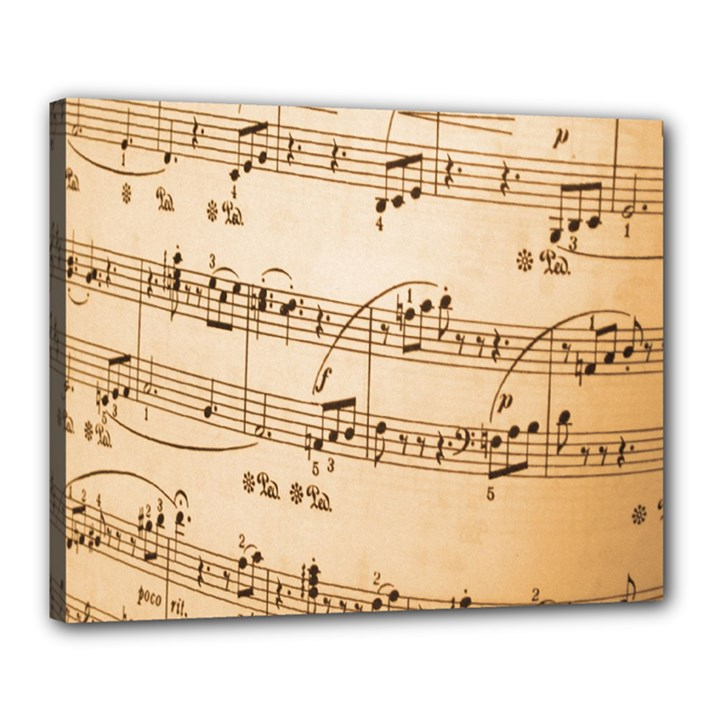 Music Notes Background Canvas 20  x 16