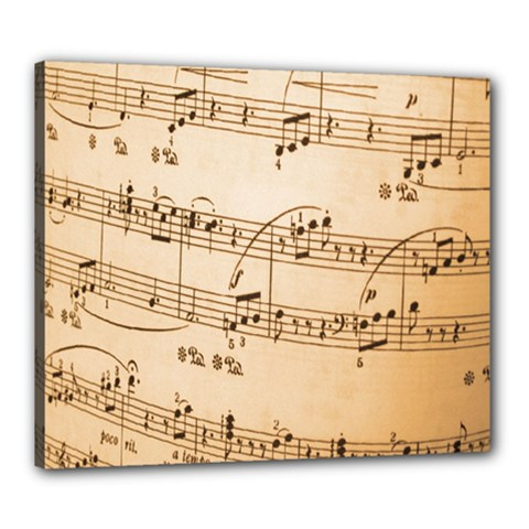 Music Notes Background Canvas 24  x 20