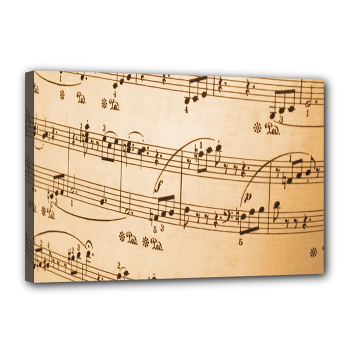 Music Notes Background Canvas 18  x 12