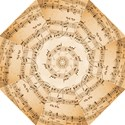 Music Notes Background Folding Umbrellas View1