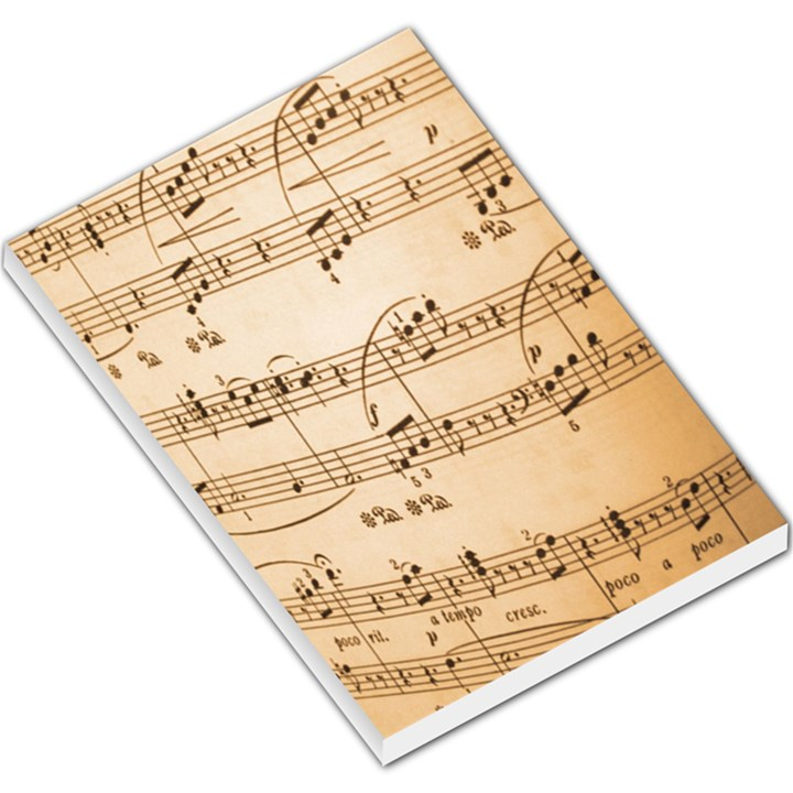 Music Notes Background Large Memo Pads