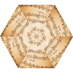 Music Notes Background Mini Folding Umbrellas
