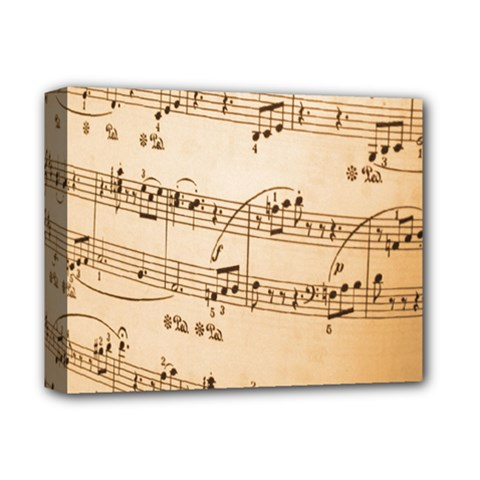 Music Notes Background Deluxe Canvas 14  x 11