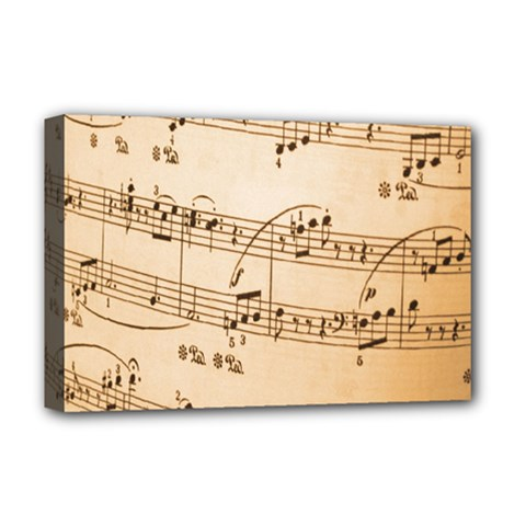 Music Notes Background Deluxe Canvas 18  x 12