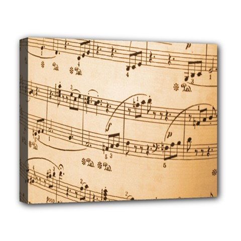 Music Notes Background Deluxe Canvas 20  x 16