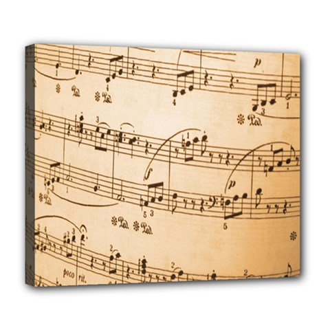 Music Notes Background Deluxe Canvas 24  x 20