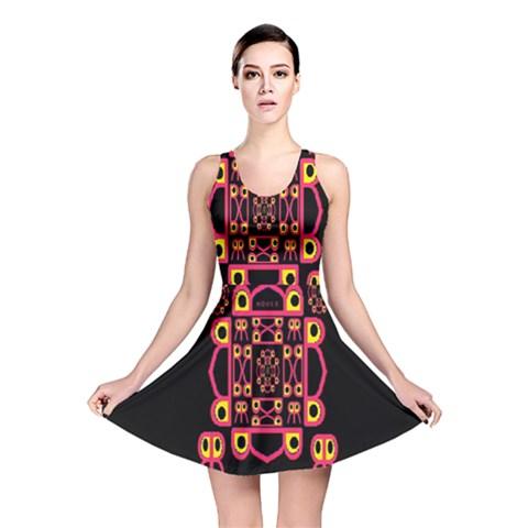 Alphabet Shirt Reversible Skater Dress