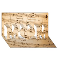 Music Notes Background MOM 3D Greeting Card (8x4)