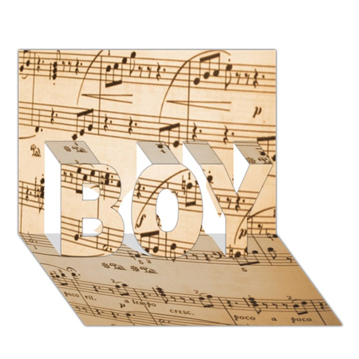 Music Notes Background BOY 3D Greeting Card (7x5)