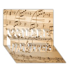 Music Notes Background YOU ARE INVITED 3D Greeting Card (7x5)